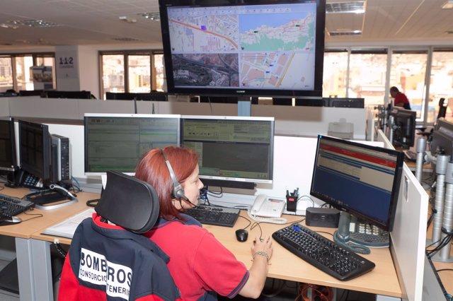 Centro de Coordinación de Bomberos en el 112