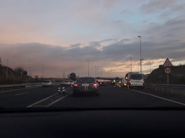 Accidente en Madrid por la lluvia