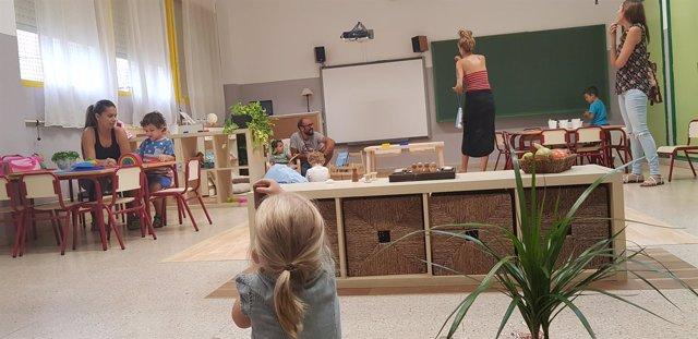 Aula de Infantil del CEIP El Palmeral de Alicante