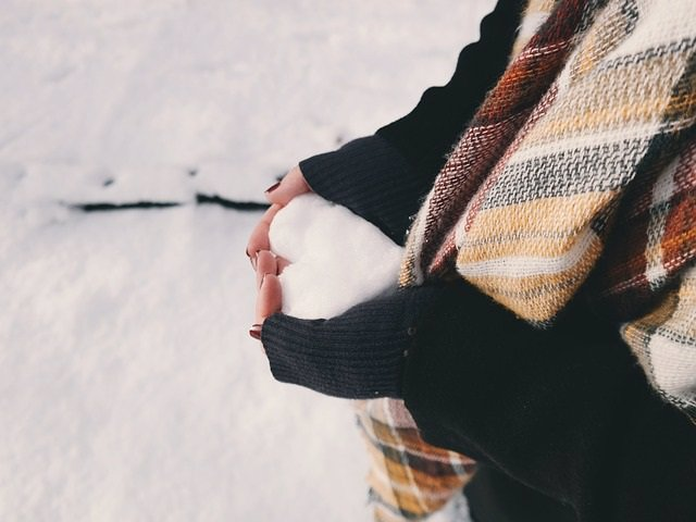 Nieve, frío, invierno, corazón