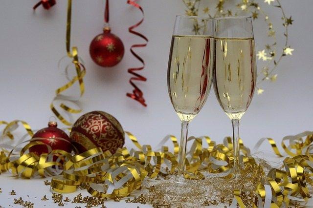 Navidad, champán, cava, Nochevieja