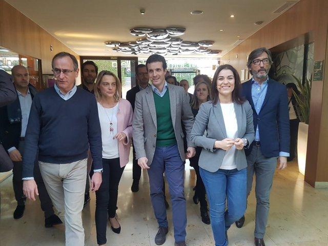 Pablo Casado, este domingo en Vitoria
