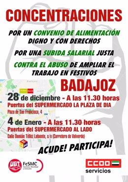 [Grupoextremadura] Ccoo De Extremadura Convocatoria En Badajoz Y Nota De Prensa