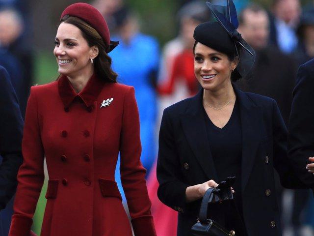 Meghan Markle y Kate Middleton, fieles a su estilo en la tradicional misa
