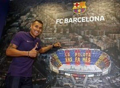 El FC Barcelona presenta este jueves al defensa colombiano Jeison Murillo