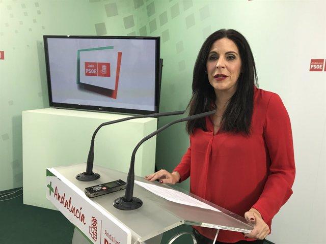 Rueda de prensa de Ángeles Férriz, de PSOE-A