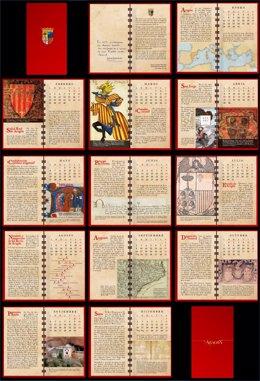 La felicitación de Javier Lambán en forma de calendario con hitos aragoneses