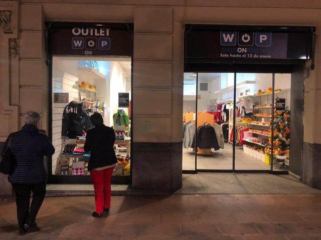 Nueva tienda provisional WOP en calle Ercilla de Bilbao.