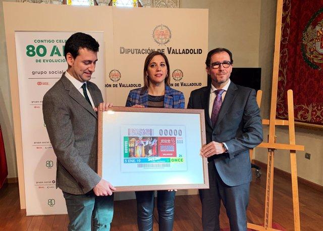 Valladolid.- Presentación Rioseco en el cupón del 5 de enero de la ONCE 26-12-18