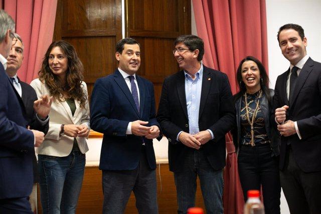 Reunión de representantes de PP-A y Ciudadanos en el marco de la negociación del
