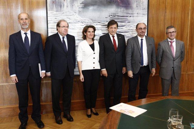 Los tres presidentes autonómicos se han reunido hoy con la ministra