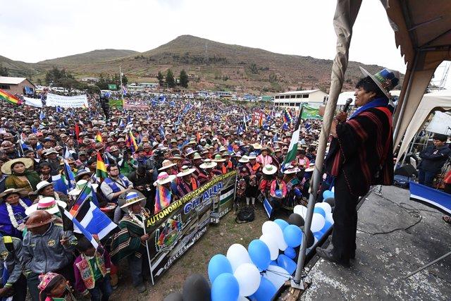 Evo Morales en Cochabamba