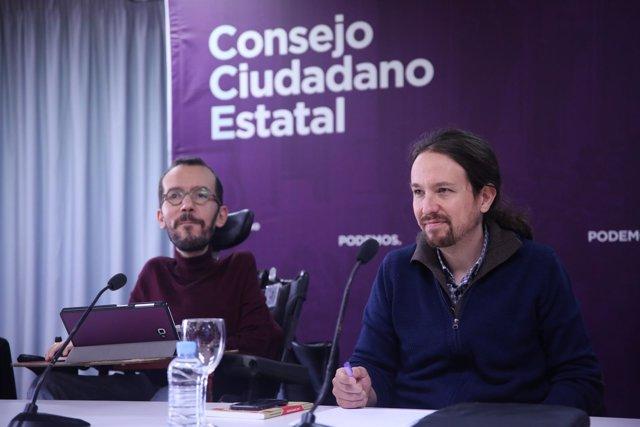 Pablo Echenique y Pablo Iglesias, en una imagen de archivo