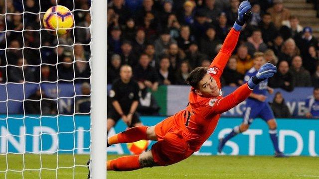 Ederson encaja un gol con el Manchester City