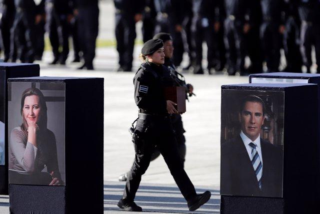 Funeral por la gobernadora de Puebla y su marido y ex gobernador