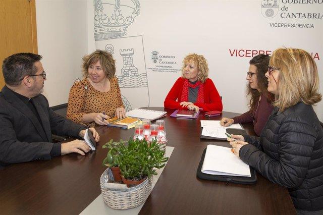 Reunión Gobierno de Cantabria-Asociación Nueva Vida