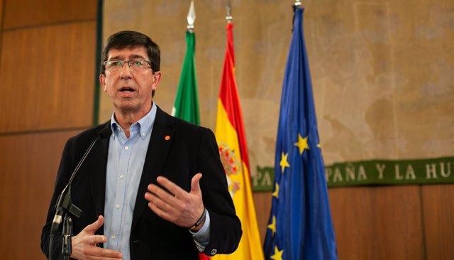 El candidato de Ciudadanos (Cs) a la Presidencia de la Junta, Juan Marín