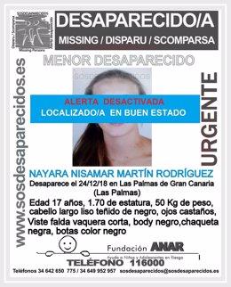 Localizan en buen estado a la joven desaparecida en Gran Canaria