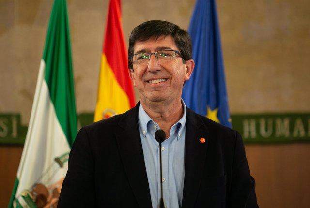 El candidato de Ciudadanos (Cs) a la Presidencia de la Junta de Andalucía, Juan