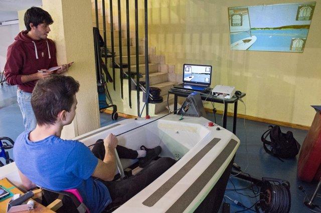 Simulador de vela adaptada en el Hospital Nacional de Parapléjicos