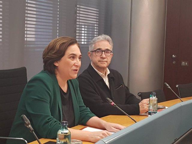 Ada Colau y Josep Maria Montaner