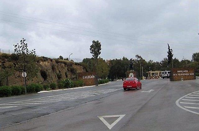 Entrada a la base militar de Viator (Almería)