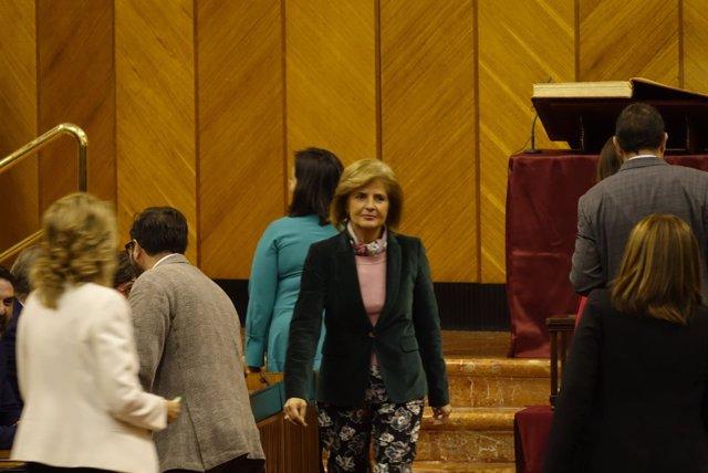 Esperanza Oña, desde este jueves vicepresidenta primera del Parlamento