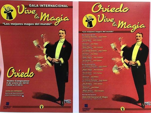 Programa festival de magia de Oviedo