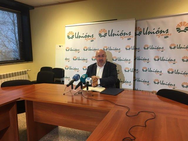 El secretario xeral de Unións Agrarias, Roberto García