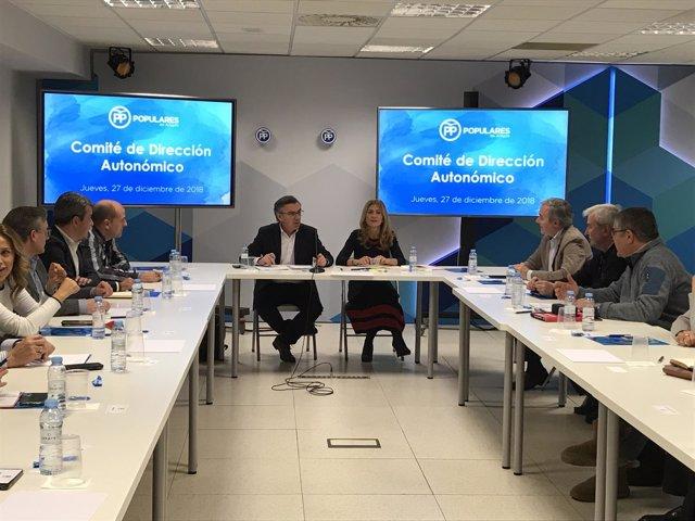 Beamonte ha presidido la reunión del Comité de Dirección del PP Aragón.