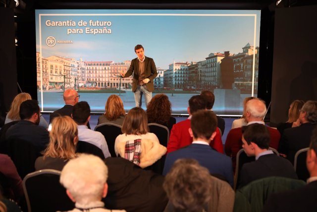 El presidente del PP, Pablo Casado, presenta los candidatos del PP en Navarra