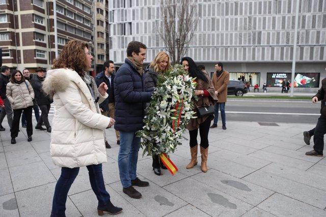 El presidente del PP, Pablo Casado, presenta las candidatas del PP en Navarra