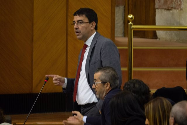 Mario Jiménez, en sesión constitutiva del Parlamento andaluz.