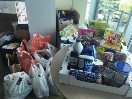 Los empleados de Roche recaudan más de 400 kilos de comida para el Banco de Alimentos