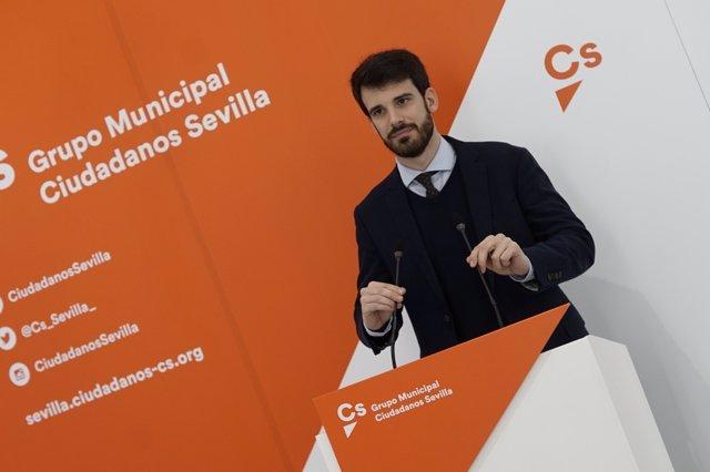 El concejal de Ciudadanos Javier Moyano