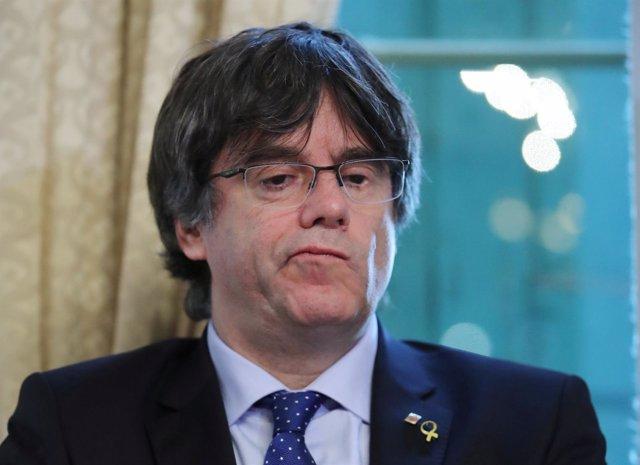 Carles Puigdemont Ofrece Una Rueda De Prensa En Ginebra