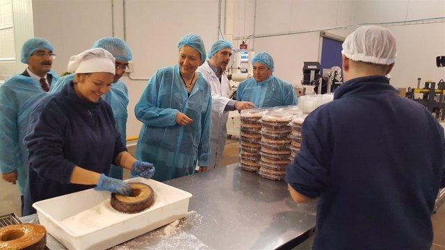 Marta Gastón en la panadería Menal