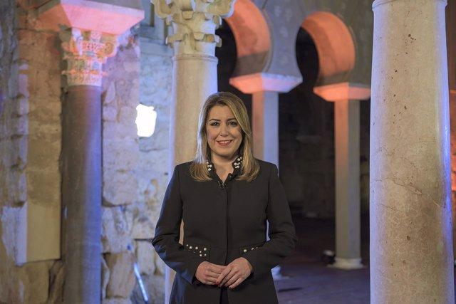 Susana Díaz, en el discurso de fin de año de 2017