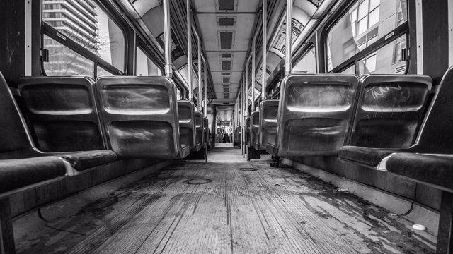 Interior de autobús
