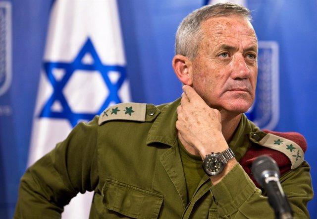 El exjefe del Estado Mayor del Ejército de Israel Benny Gantz