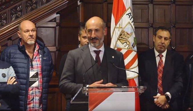 Aitor Elizegi tras ser nombrado presidente del Athletic Club