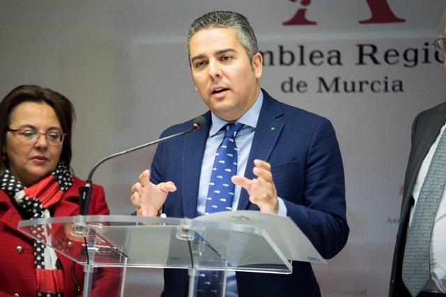 El diputado regional del Partido Popular en la Región de Murcia, Jesús Cano