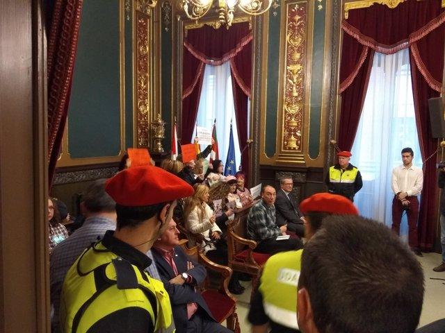 Trabajadoras del SAD en el Ayuntamiento de Bilbao