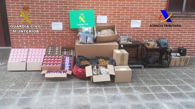 Material intervenido en la operación 'Ryotano'