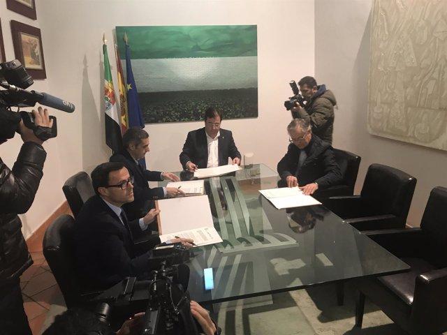 Firma de colaboración Guareña y Torrefresneda