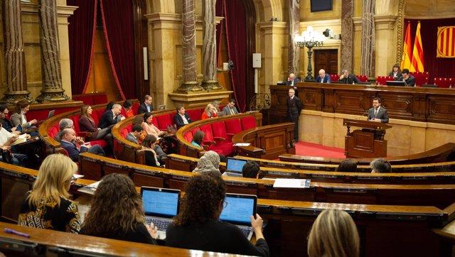 Imagen de archivo del pleno del Parlament de Catalunya.