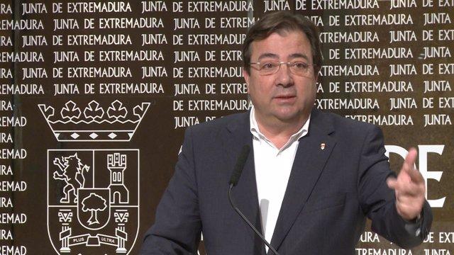 El presidente de Extremadura, Guillermo Fernández