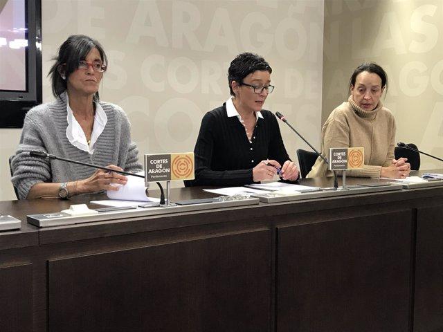 María José Ferrando, Ana Marín y Carmen Susín.