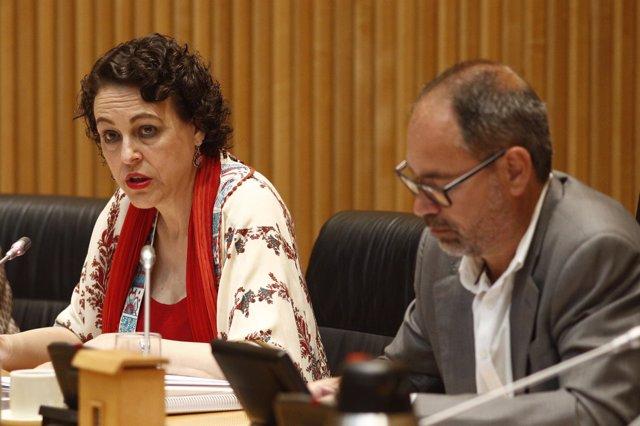 La ministra de Trabajo, Migraciones y Seguridad Social, Magdalena Valerio, com