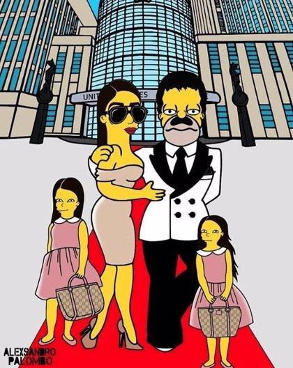Convierten a la esposa de 'El Chapo' Guzmán en un dibujo animado al estilo 'The Simpsons'